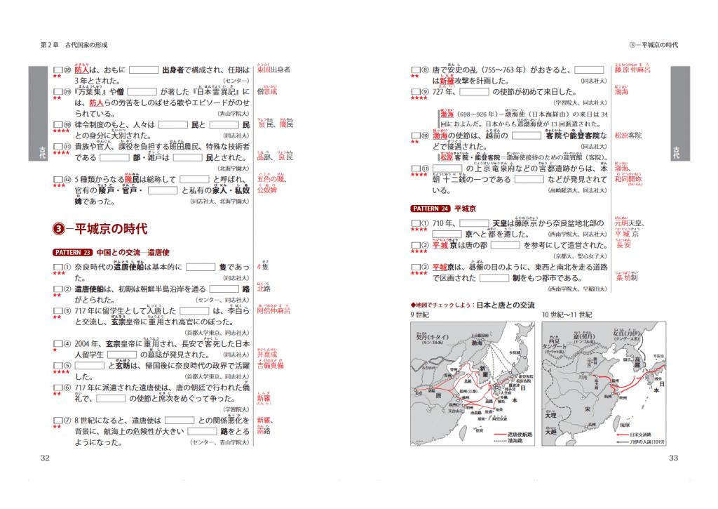 そのまま出る 日本史の一問一答のサンプル画像